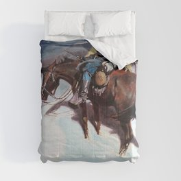 The Vidette-Custer Trooper - William Herbert Dunton Comforters
