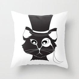 The Cat's Meow Throw Pillow