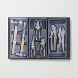 Garage Tool Box, Set of Tools, Tool Box for Construction, Electronic, Building Metal Print