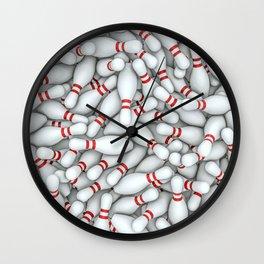 Bowling pins Wall Clock