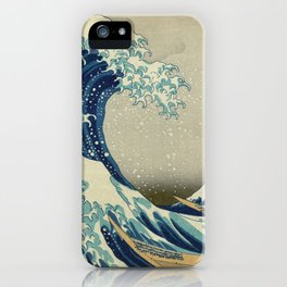Ukiyo-e, Under the Wave off Kanagawa, Katsushika Hokusai iPhone Case