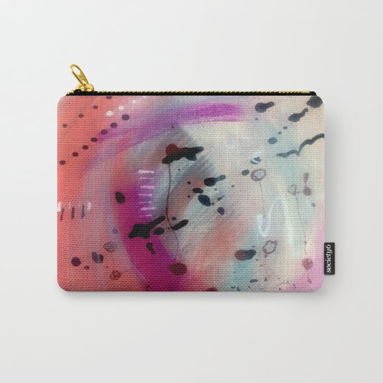 Alex - a bright acrylic and ink abstract pattern in pinks, blues, and purple Carry-All Pouch