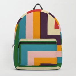 Retro Colored Square Space Backpack