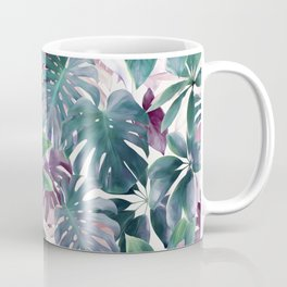 Tropical Emerald Jungle in light cool tones Coffee Mug