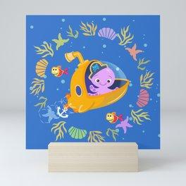 Under the sea with Captain Octo Mini Art Print