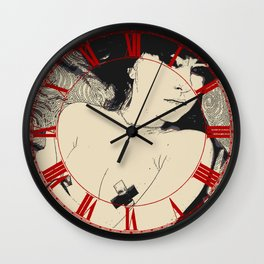 Submission in black Wall Clock