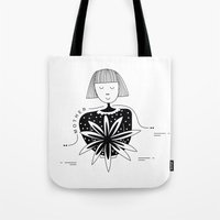mother Tote Bags featuring Mother by Bhavya Minocha