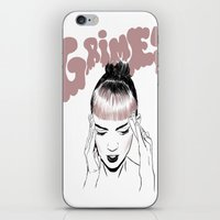 grimes iPhone & iPod Skins featuring GRIMES by Jacinta Stokes