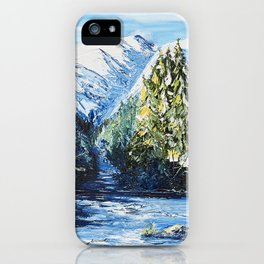 Landscape - The blue glacier - by LiliFlore iPhone Case