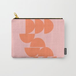 Off Balance Shapes in Pink and Orange Carry-All Pouch