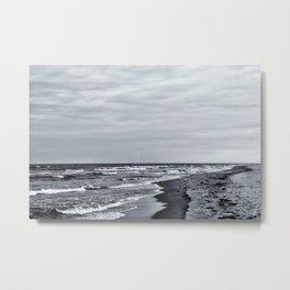 Winter Beach Metal Print