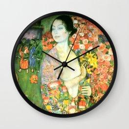 """Gustav Klimt """"Die Tänzerin (vorher Ria Munk II)(The Dancer (formerly Ria Munk II))"""" Wall Clock"""