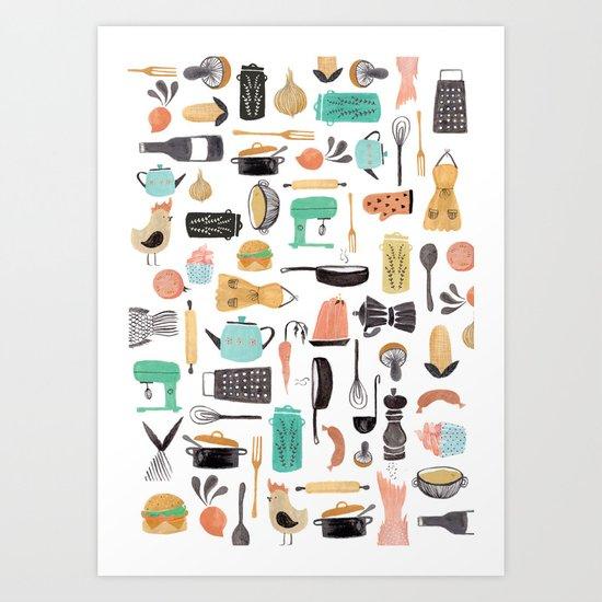 Kitchen Kitsch Art Print
