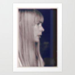 Joni Mitchell (inky) Art Print