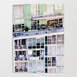 Voyeuristic 0307 Vancouver Cityscape Luxury Symmetry Poster