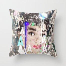 Audrey Type Abstract Art Throw Pillow