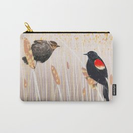 Red Winged Black Bird Carry-All Pouch