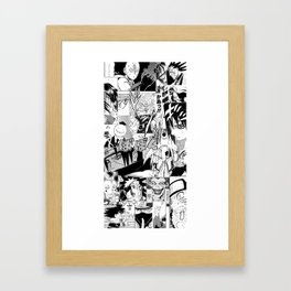 Mashup manga Framed Art Print