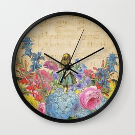 Wonderland Magical Garden - Alice In Wonderland Wall Clock