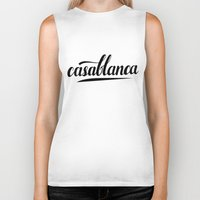 casablanca Biker Tanks featuring Casablanca by LeahArtOfficial