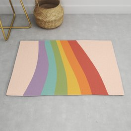 Rainbow Stripes 4 Rug