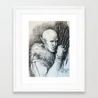 """dragon age inquisition Framed Art Prints featuring Dragon Age Inquisition - Solas - Regrets by Barbara """"Yuhime"""" Wyrowińska"""