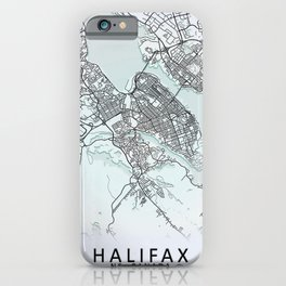 Halifax, NS, Canada, White, City, Map iPhone Case