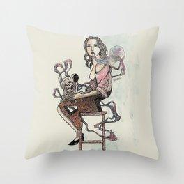 Zebra Girl Throw Pillow