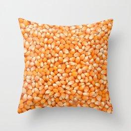 Popcorn maize Throw Pillow