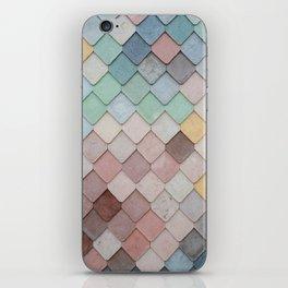 Pastel Rainbow Mermaid Pattern iPhone Skin