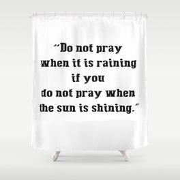 Pray Shower Curtain