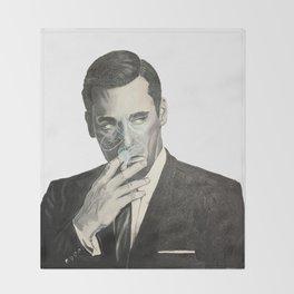 Don Draper's Blue Smoke Throw Blanket