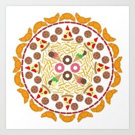 Food circle Art Print