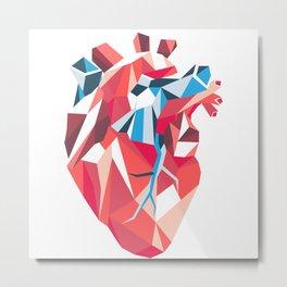 Poligon Heart Metal Print