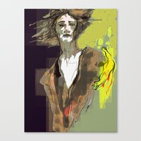 sandman Canvas Prints featuring the sandman by thimblings
