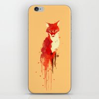 forest iPhone & iPod Skins featuring The fox, the forest spirit by Picomodi
