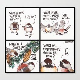 Bird no. 320: Worrier Canvas Print