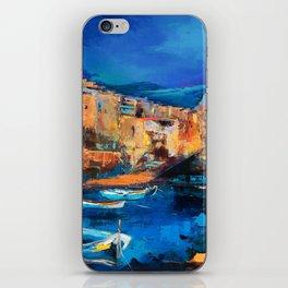 Night Colors Over Riomaggiore - Cinque Terre iPhone Skin