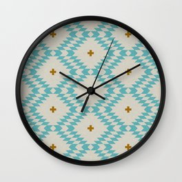 NATIVE NATURAL PLUS TURQUOISE Wall Clock