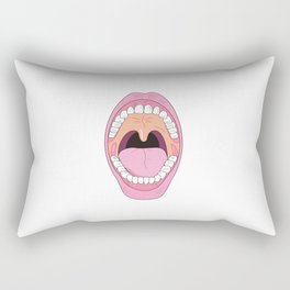 Mouth wide opened Rectangular Pillow