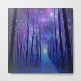 Fantasy Path Purple Blue Metal Print