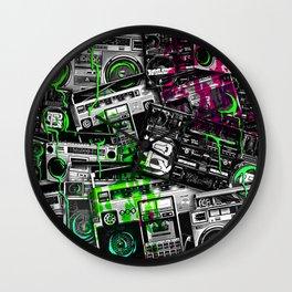 Ghetto Blaster 1 Royal Stain Wall Clock