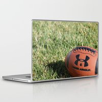 football Laptop & iPad Skins featuring Football by Images by Danielle