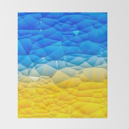 Sunshine and Blue Sky Quilted Abstract Throw Blanket