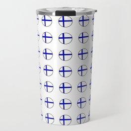 Flag of Finland 5 -finnish, Suomi, Sami,Finn,Helsinki,Tampere Travel Mug