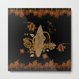 Hawaiian, tropical design Metal Print