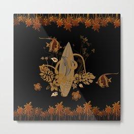 Hawaiian, tropical design Metal Print