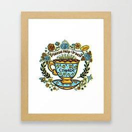 Poison of Choice: Cyanide TeaCup Framed Art Print
