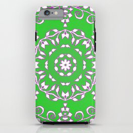 Green Spring Mandala iPhone Case