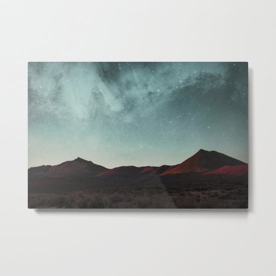 Universe above the mountain peaks Metal Print